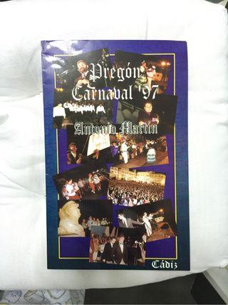 Pregón del Carnaval de Cádiz 97 de Antonio Martín