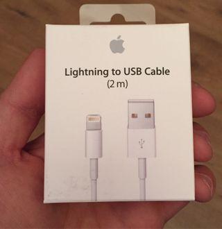 Apple Cable Carga Lightning USB 2m ORIGINAL APPLE