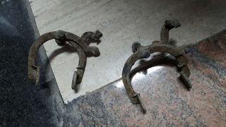 Antiguas pinzas de freno para bicicleta