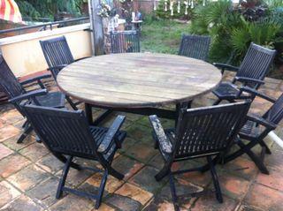 mesa jardin de segunda mano por 350 en begues wallapop