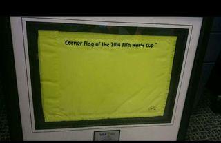 Banderín de corner. Mundial Brasil 2014.
