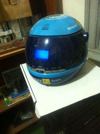 Casco De Fernando Alonso Radio Cd Mp3 Renault F1