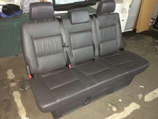 Asiento Triple Cuero Negro Volkswagen Multivan T5