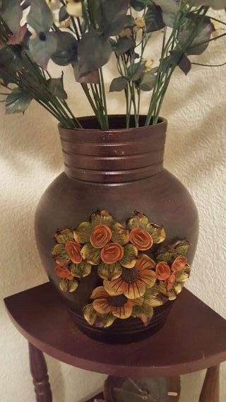 Jarrón artesano de barro ceramica
