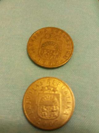 Monedas de Letonia