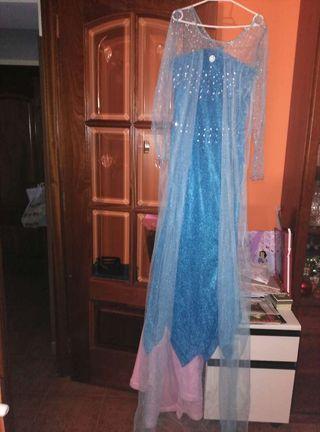 Disfraz de la reina Elsa de Frozen talla L.