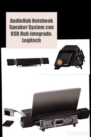 AudioHun Notebook Speaker System Con USB integrado. Logistech. PERFECTO ESTADO
