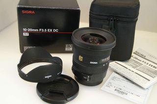 Sigma 10-20 f 3.5 EX DC Canon y M 4/3.