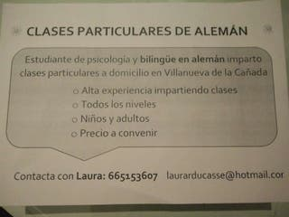 CLASES PARTICULARES DE ALEMÁN