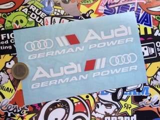 Vinilos Coche Audi German Power X2
