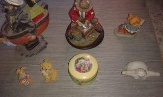 Figuras cristal y ceramica