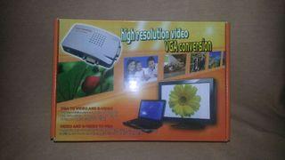 Conversor VGA a vídeo y S-Video
