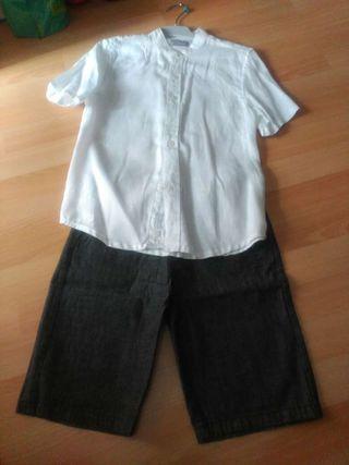 Conjunto camisa y bermudas. Boboli