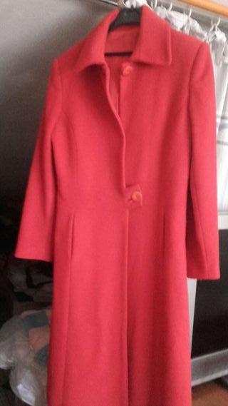 Abrigo de mujer lana rojo