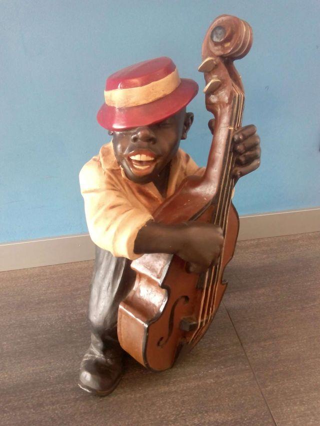 Figura de cerámica Músico Jazz Blues