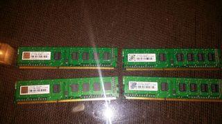 4 Memorias ordenador transcend de 1 giga cada una a 1066 dim 7 7 7