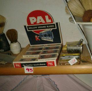 Caja expositora de cuchillas de afeitar AÑOS 30-40!!!!