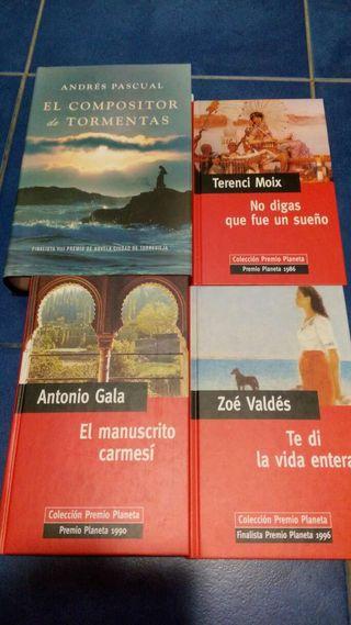 Libros: El compositor de tormentas, No digas que fue un sueño, El manuscrito Carmesi, Te di la vida entera