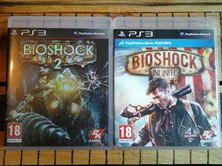 Bioshock 2 con caratula iridiscente & Bioshock inf