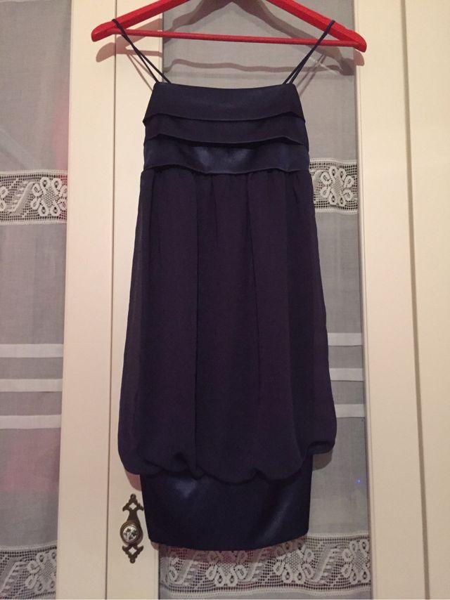 Vestido Noche Azul Marino Zara A Estrenar De Segunda Mano