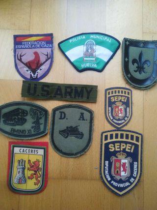 Parches de tela militares