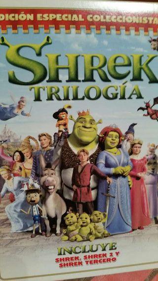 Trilogia peliculas Shrek dvd edicion coleccionista