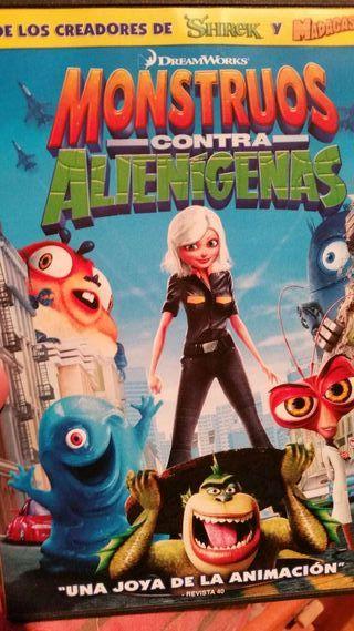 Pelicula dvd monstruos contra alienigenas dreamworks