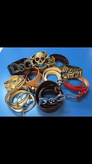 10 Cinturones unos auténticos otros falsos