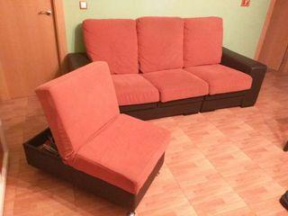 Sofa chaise longue corredizo.