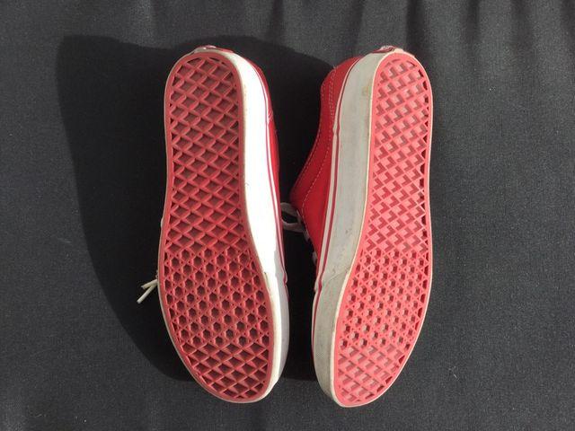Zapatillas VANS rojas