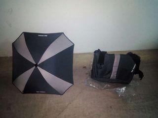 Sombrilla y bolso nuevo (sin usar)