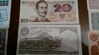 Billetes internacionales colección