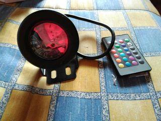 Bombilla proyector rgb con mando 12v