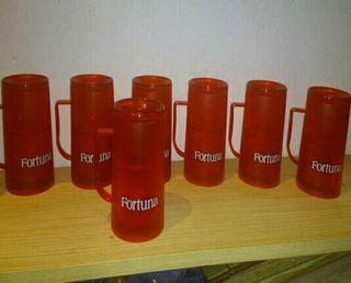 7 jarras de medio litro