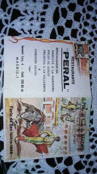 Programa Feria de San Isidro 1968