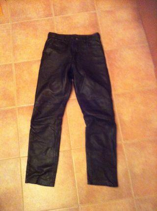 Pantalon Cuero Con Forro
