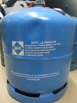 Bombona de camping gaz azul vacia de gas