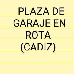 Plaza de garaje en Rota (Cádiz) Zona La Costilla.