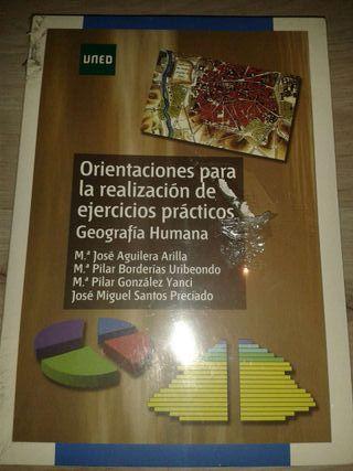 Libro orientaciones para la realización de ejercicios practicos geografia humana uned
