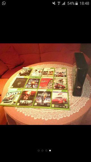 Xbox 360 slim + juegos +2mandos