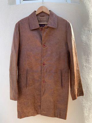 chaqueta de piel marrón casi sin utiliza