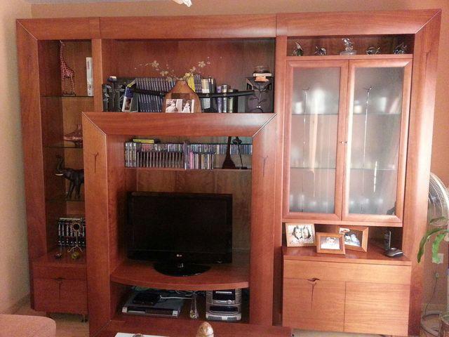 Mueble De Salon Madera De Cerezo De Segunda Mano Por 150 En - Salon-madera