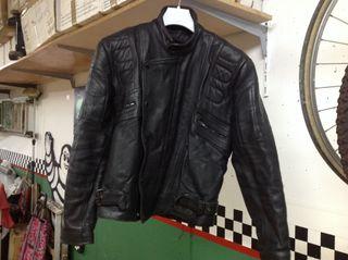 Cazadora Moto Cuero Negro Talla 50