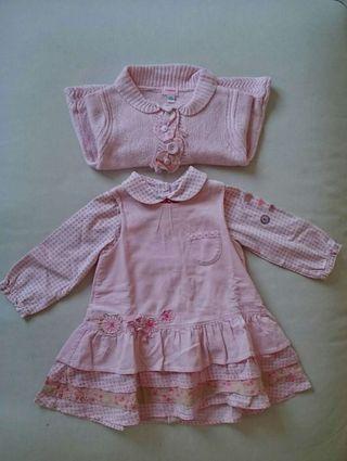 Conjunto vestido bebé niña marca Marèse 12 meses / 1 año