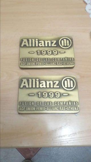 placas conmemoratibas de la fusion de las con pañias