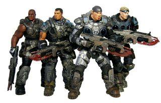 Lote 4 figuras gears of wars