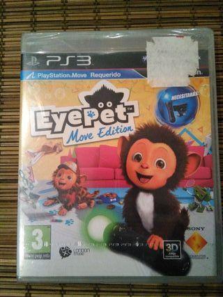 Juego Eye Pet Move Edition de PS3, nuevo.