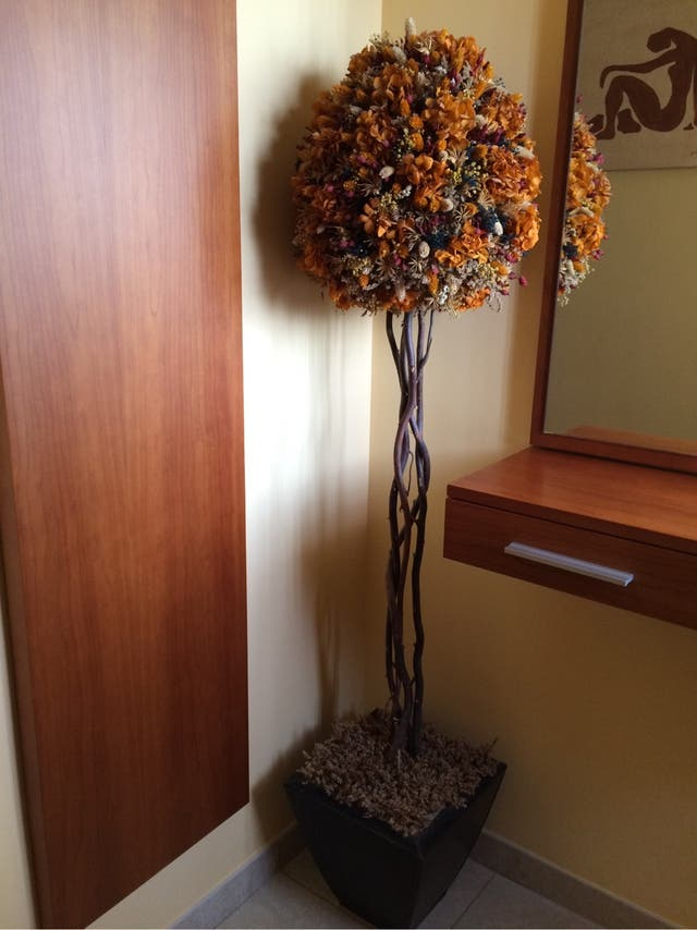 Arbol decoracion de flores secas de segunda mano por 70 en atarfe en wallapop - Plantas secas decoracion ...