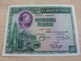 500 pesetas n° bajo