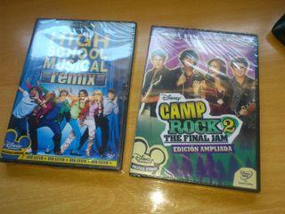 DVD High School Musical y Camp Rock